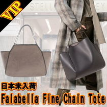 Stella McCartney FALABELLA Faux Fur Chain Office Style Totes