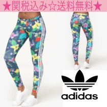 adidas Flower Patterns Casual Style Long Bottoms
