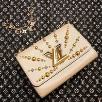 Louis Vuitton TWIST Blended Fabrics 2WAY Chain Plain Leather Elegant Style