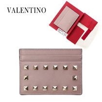 VALENTINO Plain Leather Card Holders