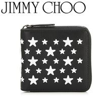 Jimmy Choo Star Leather Folding Wallets