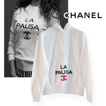CHANEL Casual Style Cashmere Long Sleeves Cashmere