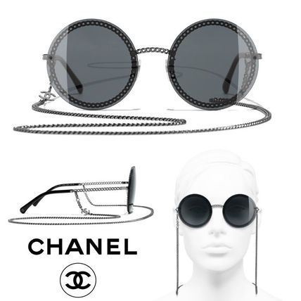 e15c873523 CHANEL Chain Round Sunglasses (A71292 X01060 L0814 4245 C108 S4) by Luxey -  BUYMA