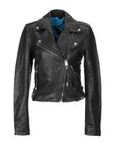 DIESEL Short Street Style Leather Oversized Biker Jackets