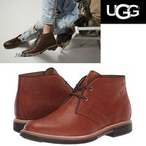 UGG Australia Plain Leather Chukkas Boots