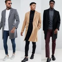 ASOS Wool Blended Fabrics Long Chester Coats