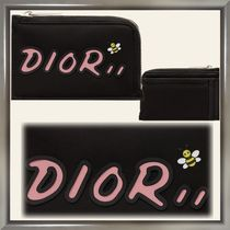 Christian Dior Nylon Blended Fabrics Wallets & Small Goods