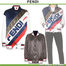 FENDI Casual Style Blended Fabrics Collaboration Medium