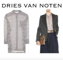 Dries Van Noten Dots Leopard Patterns Casual Style Silk Long Sleeves Long