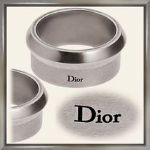 Christian Dior Street Style Plain Silver Rings