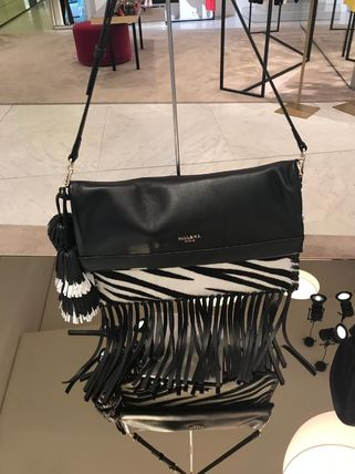 Zebra Patterns Leather Shoulder Bags