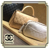 CHANEL Tassel Chain Plain Elegant Style Shoulder Bags