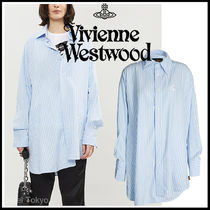 Vivienne Westwood Stripes Casual Style Unisex Cotton Long Super-long Sleeves