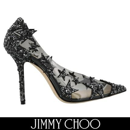 e5b532d92e2 ... Jimmy Choo Pointed Toe Star Casual Style Pin Heels Pointed Toe Pumps    Mules ...