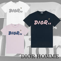 DIOR HOMME Crew Neck Pullovers Street Style Cotton Short Sleeves 733c0cadeb2