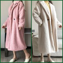 Plain Long Midi Elegant Style Peacoats