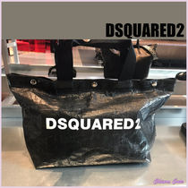 D SQUARED2 Casual Style A4 Plain Totes
