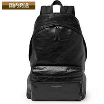 BALENCIAGA Lambskin A4 Plain Backpacks