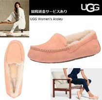 UGG Australia ANSLEY Moccasin Casual Style Suede Plain Flats