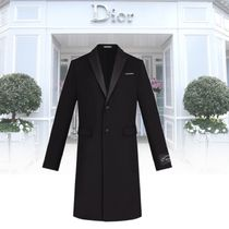 Christian Dior Cashmere Plain Long Chester Coats