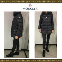 MONCLER TORCYN Velvet Blended Fabrics Plain Long Down Jackets