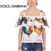 Dolce & Gabbana Long Sleeves Other Animal Patterns Cotton Shirts & Blouses