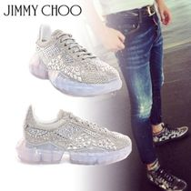 Jimmy Choo Suede With Jewels Sneakers