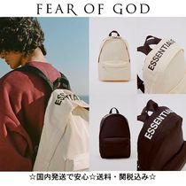 FEAR OF GOD ESSENTIALS Unisex Street Style Backpacks