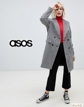 ASOS Other Check Patterns Zigzag Casual Style Medium Coats