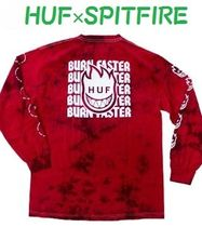 HUF U-Neck Collaboration Long Sleeves Long Sleeve T-Shirts