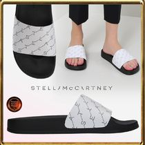 Stella McCartney Monogram Open Toe Rubber Sole Casual Style Shower Shoes