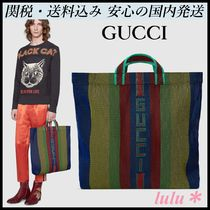 GUCCI Stripes A4 Totes