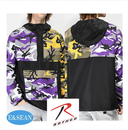 Camouflage Street Style Collaboration Jackets