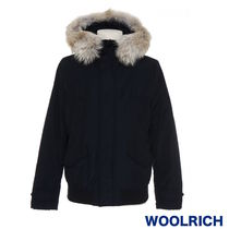 WOOLRICH Short Fur Plain MA-1 Bomber Jackets
