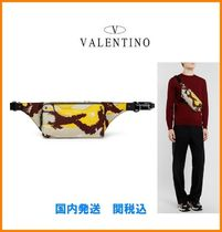 VALENTINO Camouflage Studded Hip Packs