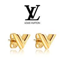 Louis Vuitton Unisex Studded Metal Earrings