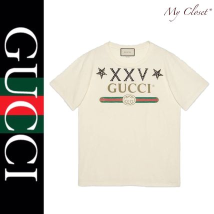 4006342cc GUCCI Crew Neck Cotton Short Sleeves T-Shirts by tigerboogie - BUYMA