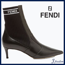 FENDI Leather Elegant Style Ankle & Booties Boots