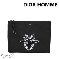DIOR HOMME Nylon Other Animal Patterns Clutches