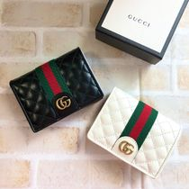 GUCCI Leather Small Wallet Logo Card Holders