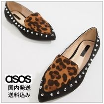 ASOS Leopard Patterns Casual Style Slip-On Shoes