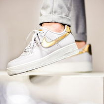 Nike AIR FORCE 1 Plain Leather Sneakers