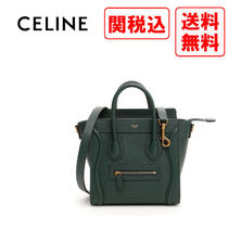 CELINE Casual Style Street Style Leather Handbags