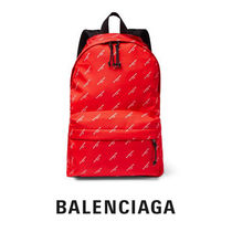 BALENCIAGA Unisex Nylon A4 Backpacks