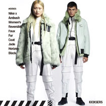 Nike Unisex Faux Fur Street Style Collaboration Outerwear