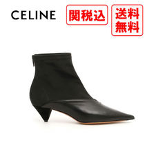 CELINE Casual Style Street Style Leather Boots Boots