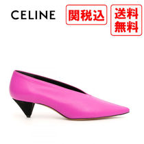 CELINE Casual Style Street Style Leather Pumps & Mules