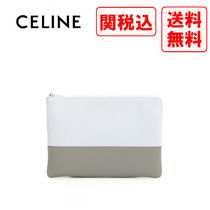 CELINE Casual Style Street Style Leather Bags