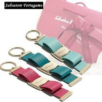 Salvatore Ferragamo Plain Leather Keychains & Bag Charms
