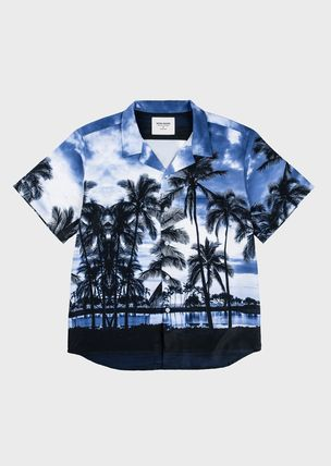 Tropical Patterns Unisex Street Style Short Sleeves Shirts